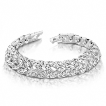 Stunning Classic Silver plated Bracelet With Channel Set Crystal Stones
